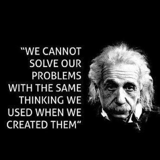 Albert Einstein We Cannot Solve Problems