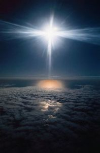 Aerial View of Clouds and Sun